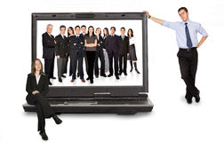 Business online team Royalty Free Stock Image
