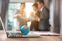 Business Online worldwide royalty free stock photo