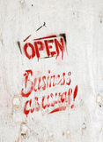Business open as usual Stock Image