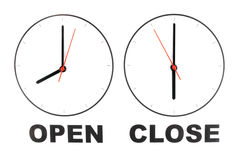 Business opening hours Stock Images