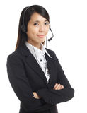 Business operator woman with headset Stock Photography