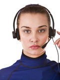 Business operator woman support customer. Stock Photos