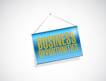 Business opportunities banner sign Stock Image