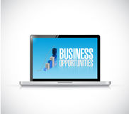 Business opportunities computer Stock Image