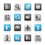 Business Opportunities Icons -- Matte Series Royalty Free Stock Images