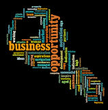 Business opportunity info-text graphics. And arrangement concept Royalty Free Stock Image