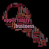 Business opportunity info-text graphics Royalty Free Stock Images