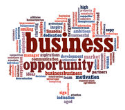 Business opportunity info-text graphics Royalty Free Stock Photography