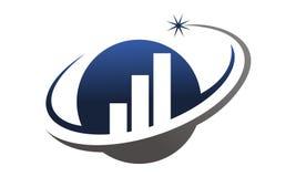 Business Optimize Logo Design Template. Vector Royalty Free Stock Photos