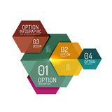Business option diagram templates Stock Photo