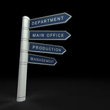 Business organisation. 3d isolated on black Royalty Free Stock Photo