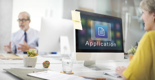 Business Organization Application Page Icon Concept Stock Photo
