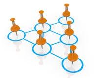 Business organization chart Royalty Free Stock Photography