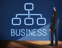 Business Organization Chart Company Concept Stock Photo
