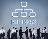Business Organization Chart Company Concept royalty free stock image