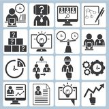 Business, organization development icons Royalty Free Stock Image