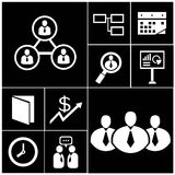 Business and organization icons Stock Photo