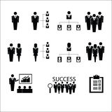 Business organization icons vector Stock Photography