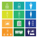 Business organization icons windows Royalty Free Stock Photo