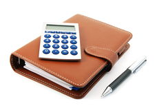 Business organizer and pen Stock Photo