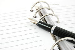 Business organizer and pen Royalty Free Stock Photo
