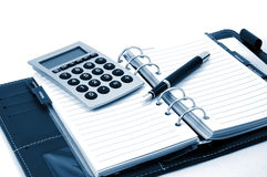 Business organizer and pen Royalty Free Stock Image