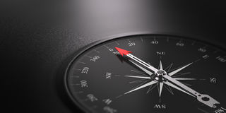 Business Orientation Background, Compass on the Right Royalty Free Stock Photography