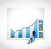 Business our goals graphs illustration design Stock Photos