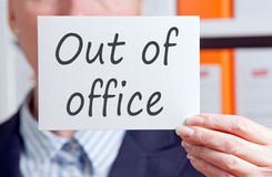 Business out of office sign Stock Image