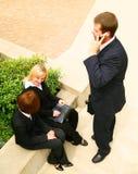 business outdoor poeple three working Στοκ Εικόνες