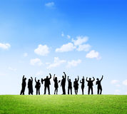 Business Outdoor Team Teamwork Collboration Support Concept Royalty Free Stock Photo