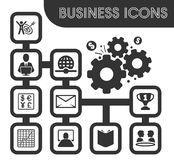 Business outline icons set. And symbols for web user interface Stock Photos