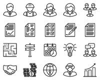 Business Outline Icons. Business icons, vector illustration, outline stroke icons Stock Images
