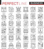 Business outline mini concept symbols. Finance modern stroke linear style illustrations set. Perfect thin line icons. Business outline mini concept symbols Royalty Free Stock Image