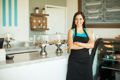 Business owner in a coffee shop Stock Photography