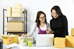 Online shopping ordering and delivery services. royalty free stock images