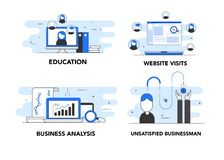Business Pack Blue illustrations stock image