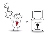The business and the padlock Royalty Free Stock Photo