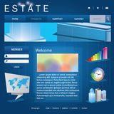 Business page web template Stock Photo