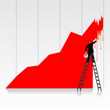 Business - painting graph Royalty Free Stock Image