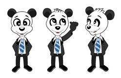 Business panda bears set Royalty Free Stock Photography