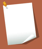 Business paper. Clip on business paper with brown background Royalty Free Stock Image