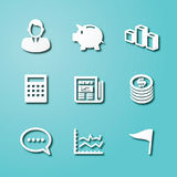 Business paper art icons. Elements design Stock Images