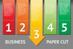 Business paper cut template Royalty Free Stock Photography