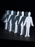 Business Paper Dolls in line royalty free stock photos