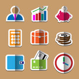 Business paper fold icons set Stock Images