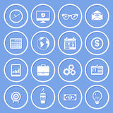 Business Paper Icons Royalty Free Stock Image