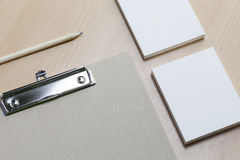 Business paper object, for identity and graphic designers presen. Tations Stock Images