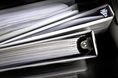 Business Papers Binder Files Royalty Free Stock Images