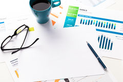 Business papers royalty free stock image